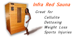 The Infra red sauna only at Sunsational Tel 01202 737378