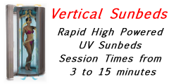 Vertical UV Tanning Beds