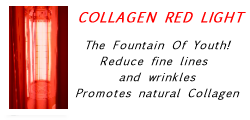 Collen Red Light Therapy only available at Sunsational Tel 01202 737378
